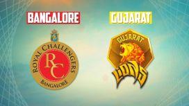 Gujarat vs bangalore