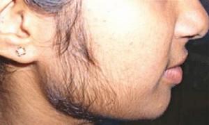 Girls' beard mustache